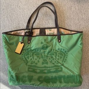 JUICY COUTURE green nylon tote bag brand new